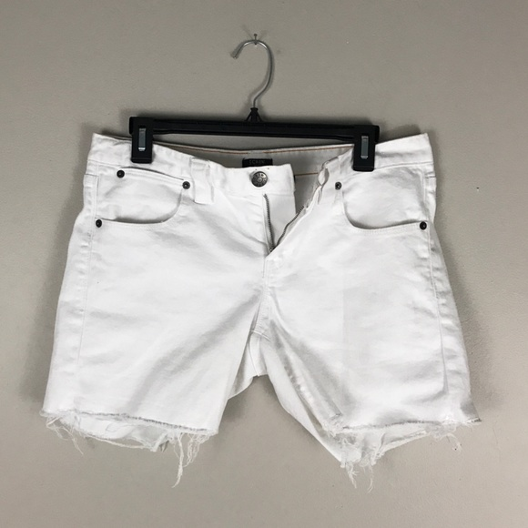 238bb76182 J. Crew Factory Shorts | J Crew White Cut Off Denim Size 4 | Poshmark